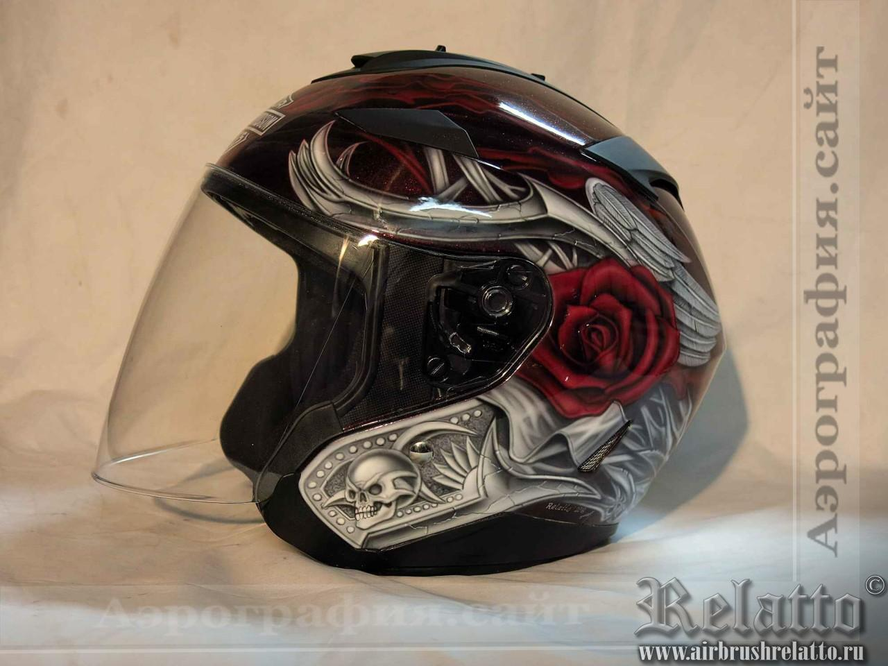 роспись шлема Harley Davidson Белгород