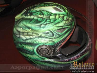Аэрография шлема Shark Краснодар