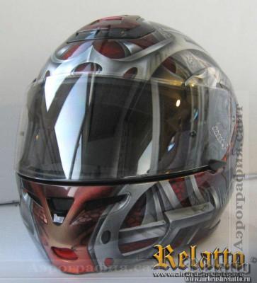 шлем спортбайкера.