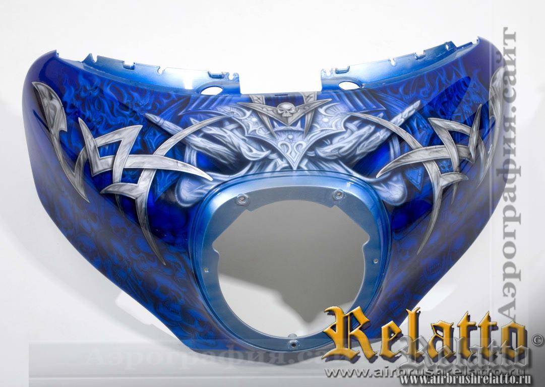 Дизайн Yamaha Venture черепа