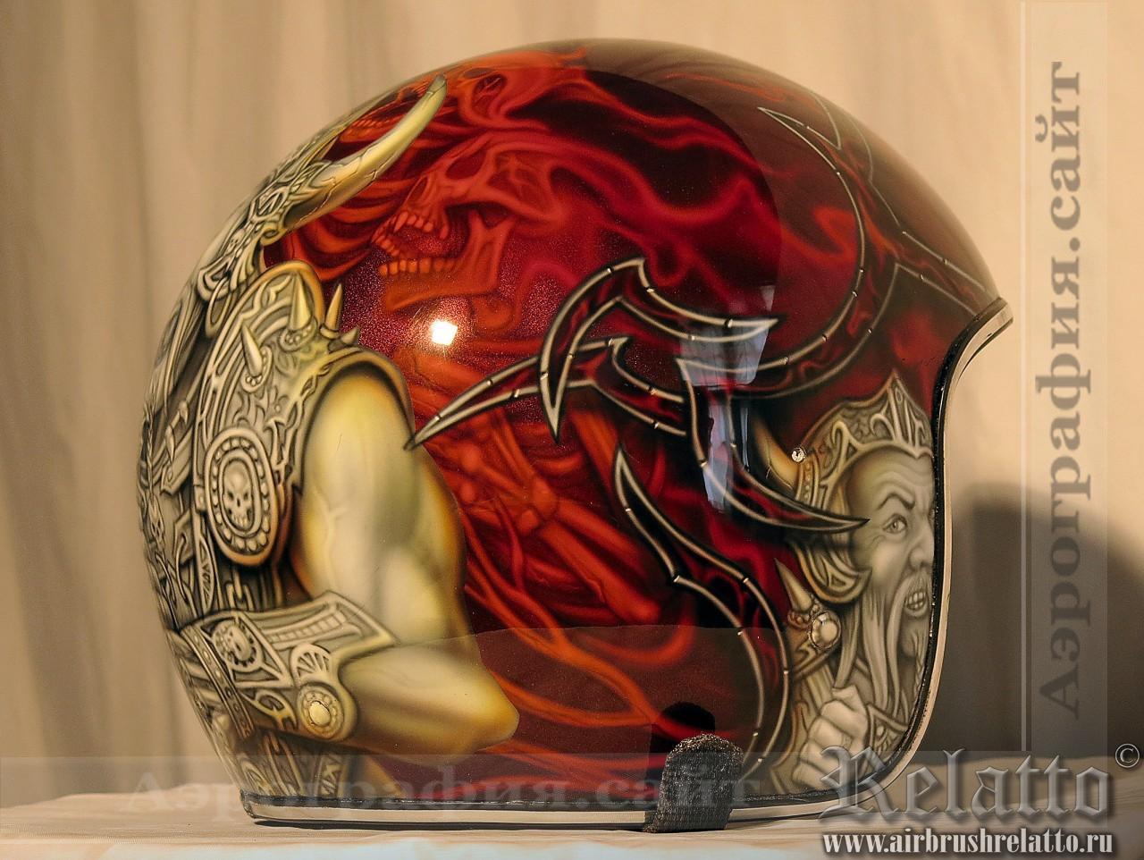 роспись шлема Варвар