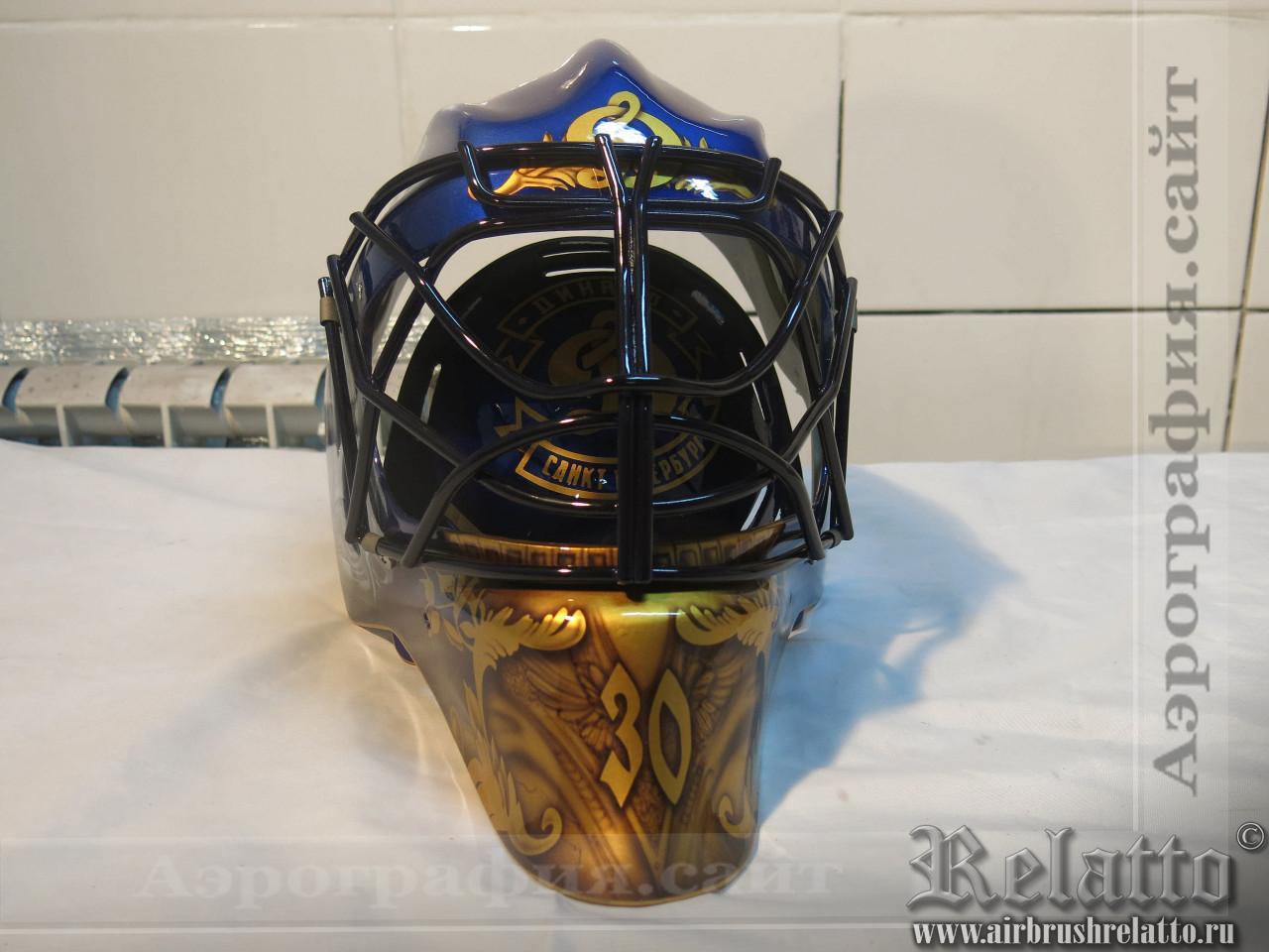 аэрография хоккейного шлема