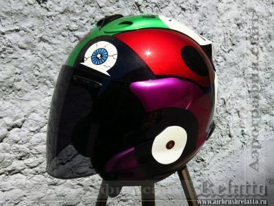 аэрография шлема Relatto