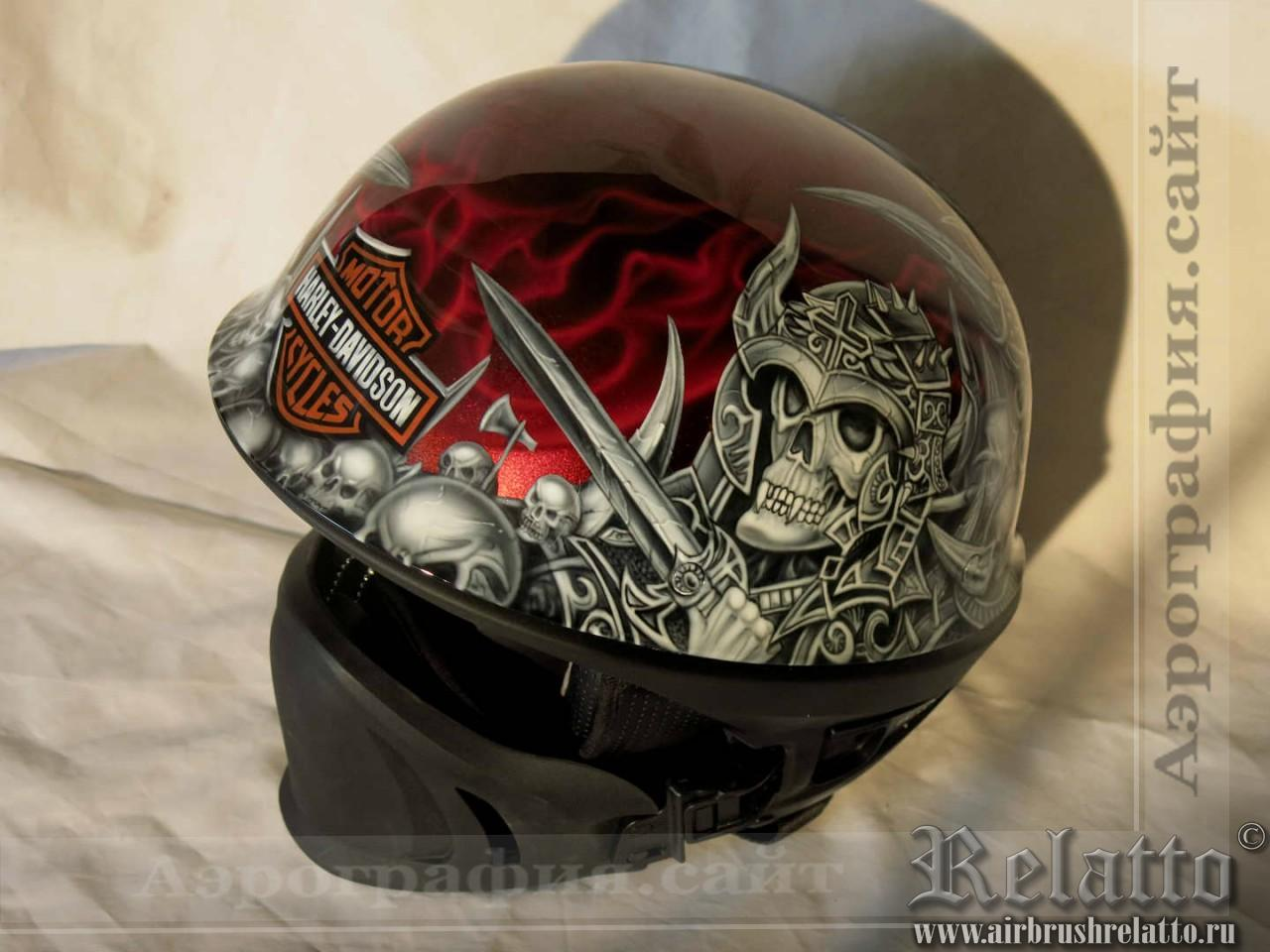 аэрография шлема Bell Rogue в Белгороде