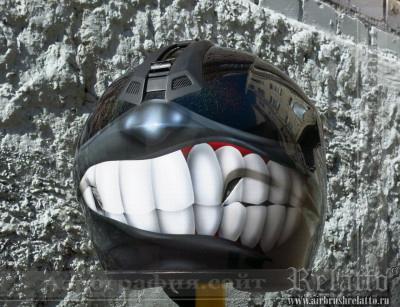 аэрография шлема - дерзкий Белгород