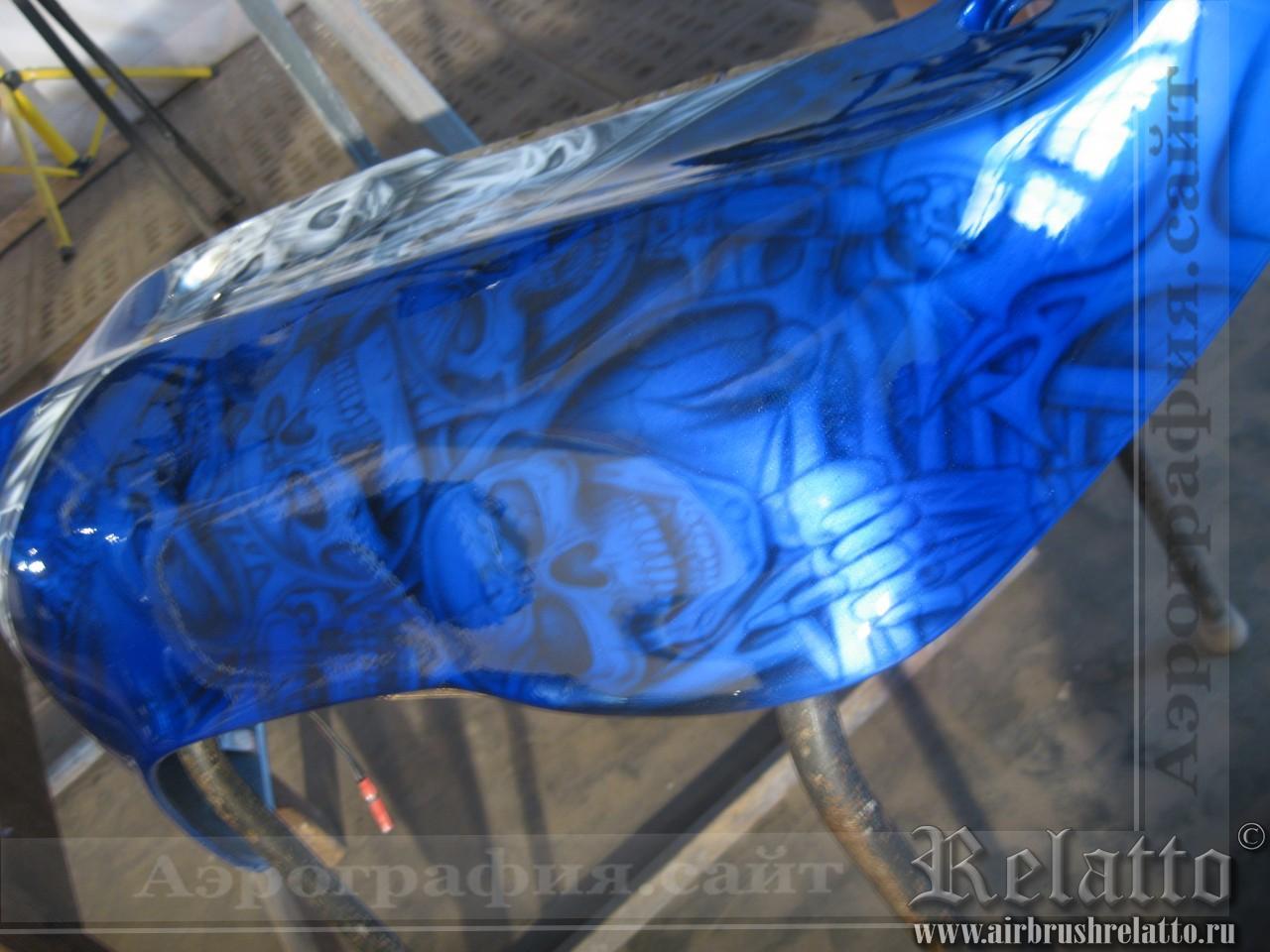 Yamaha Venture восстановление  росписи мотоцикла