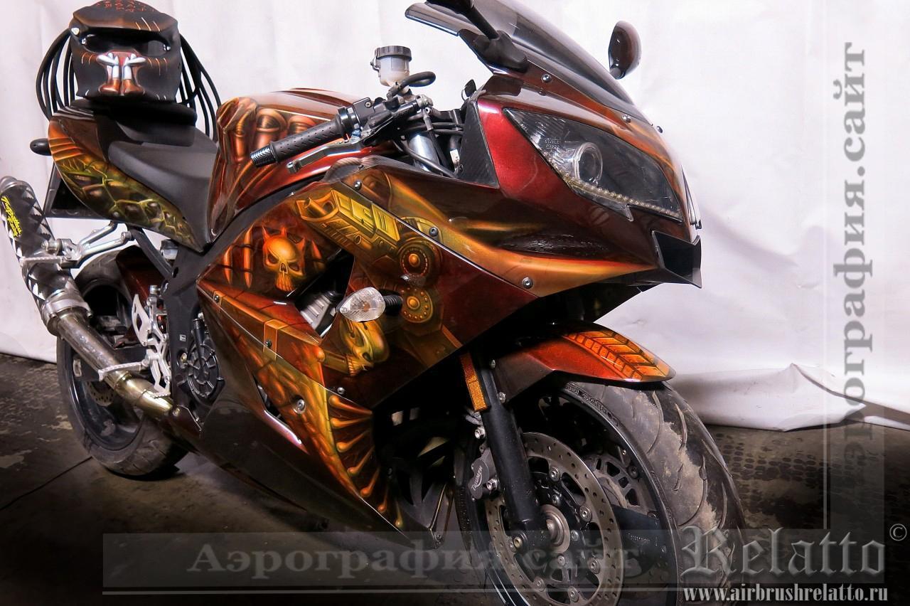 аэрография мотоцикла Triumph
