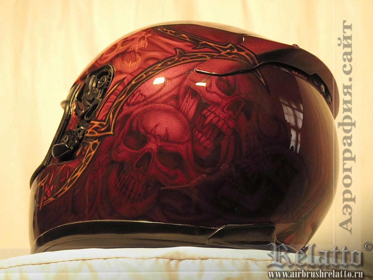 шлем Shoel аэрография