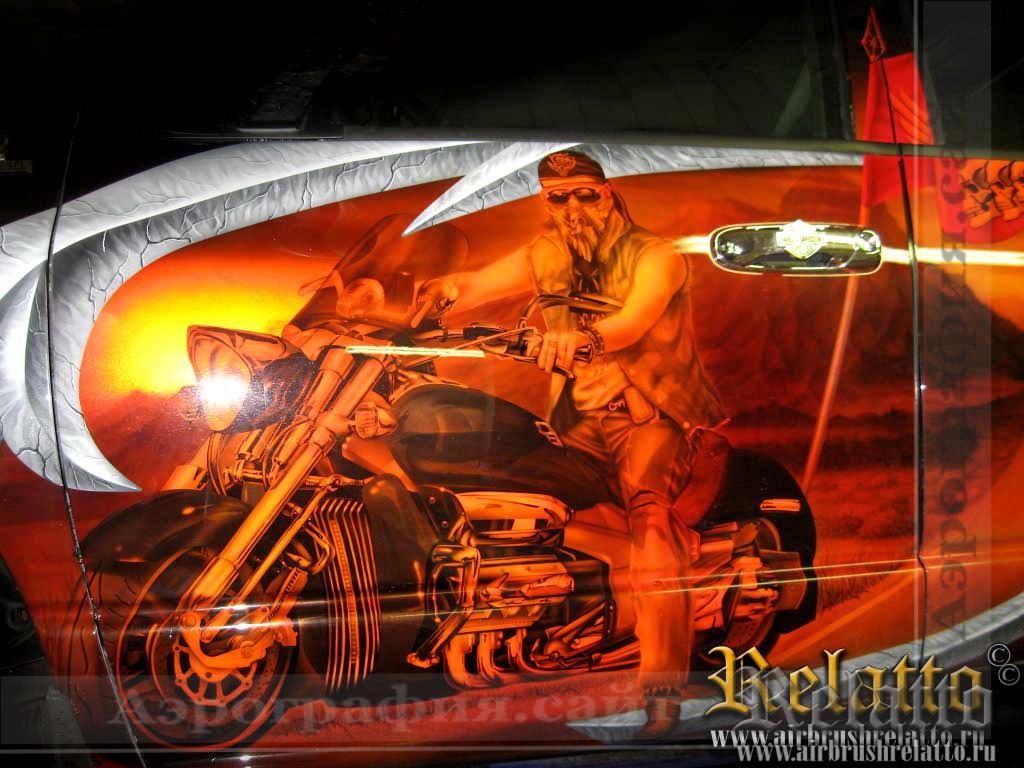 аэрография Dodge Ram Москва