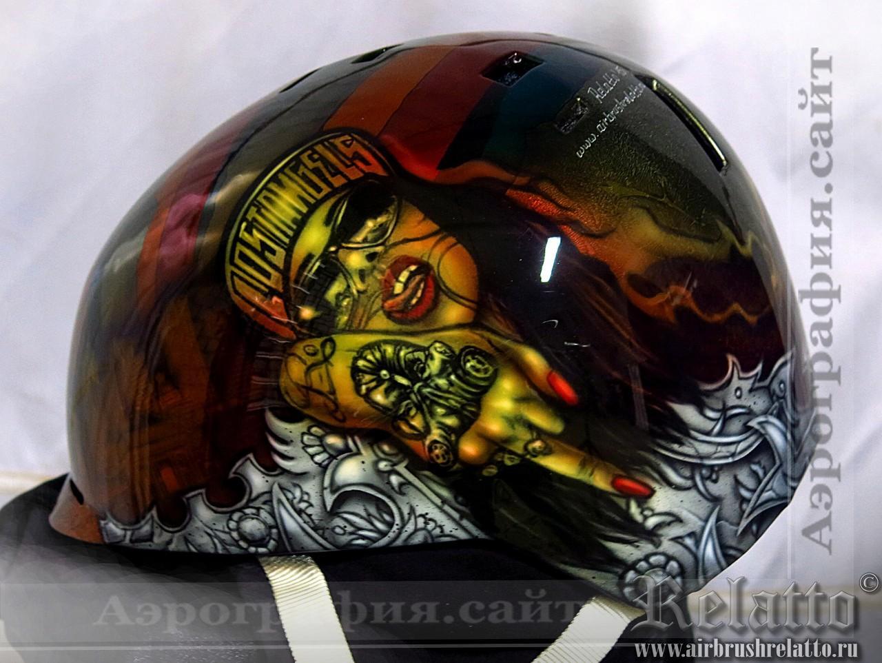 Роспись шлема для сноуборда