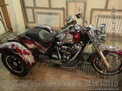 Аэрография Trike Harley Davidson Freewheeler Краснодар