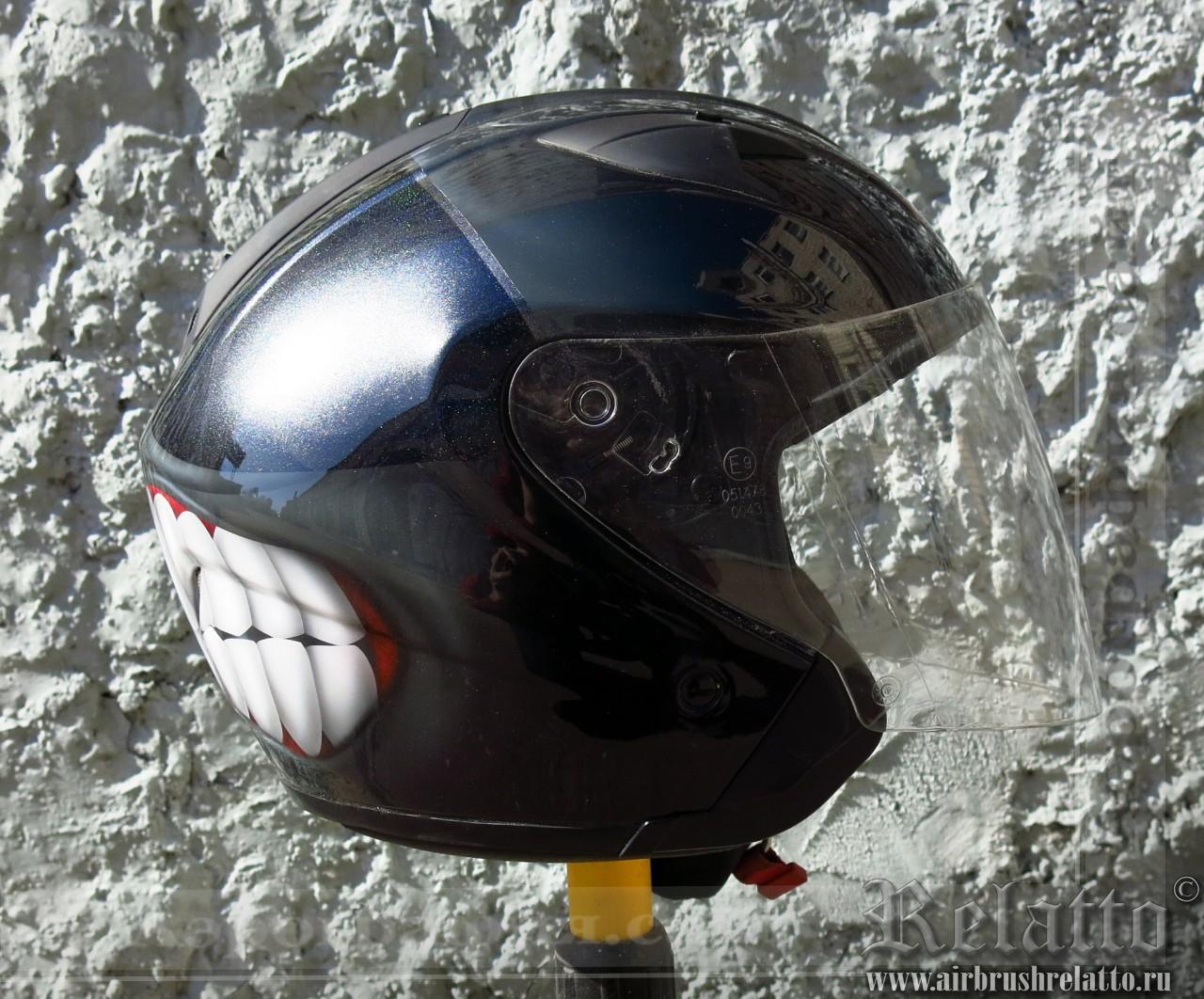 аэрография шлема - злой