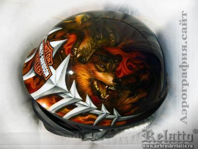 Роспись мотошлема Краснодар