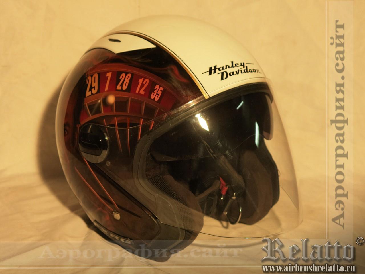 аэрография мотошлема Harley Davidson