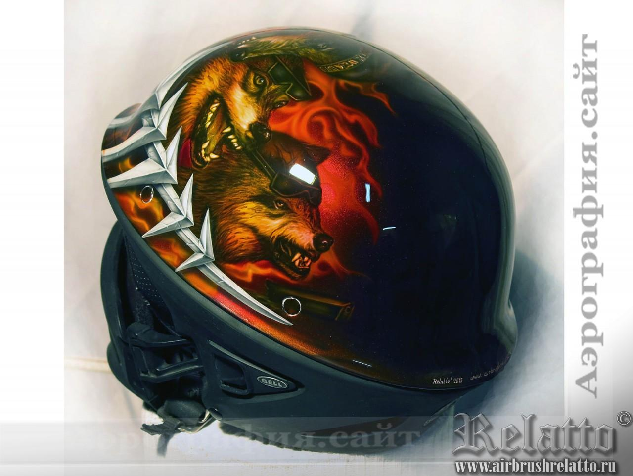 Аэрография шлема Bell