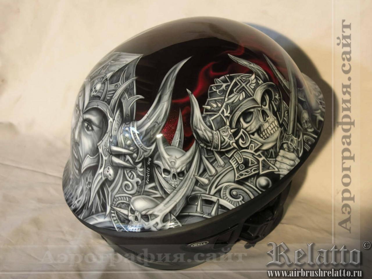 роспись шлема Bell Rogue в Белгороде