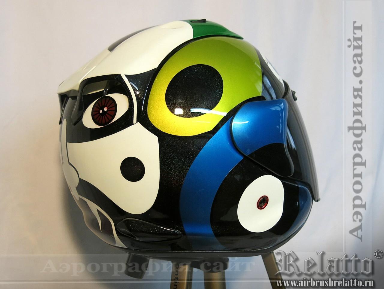 Роспись шлема Arai