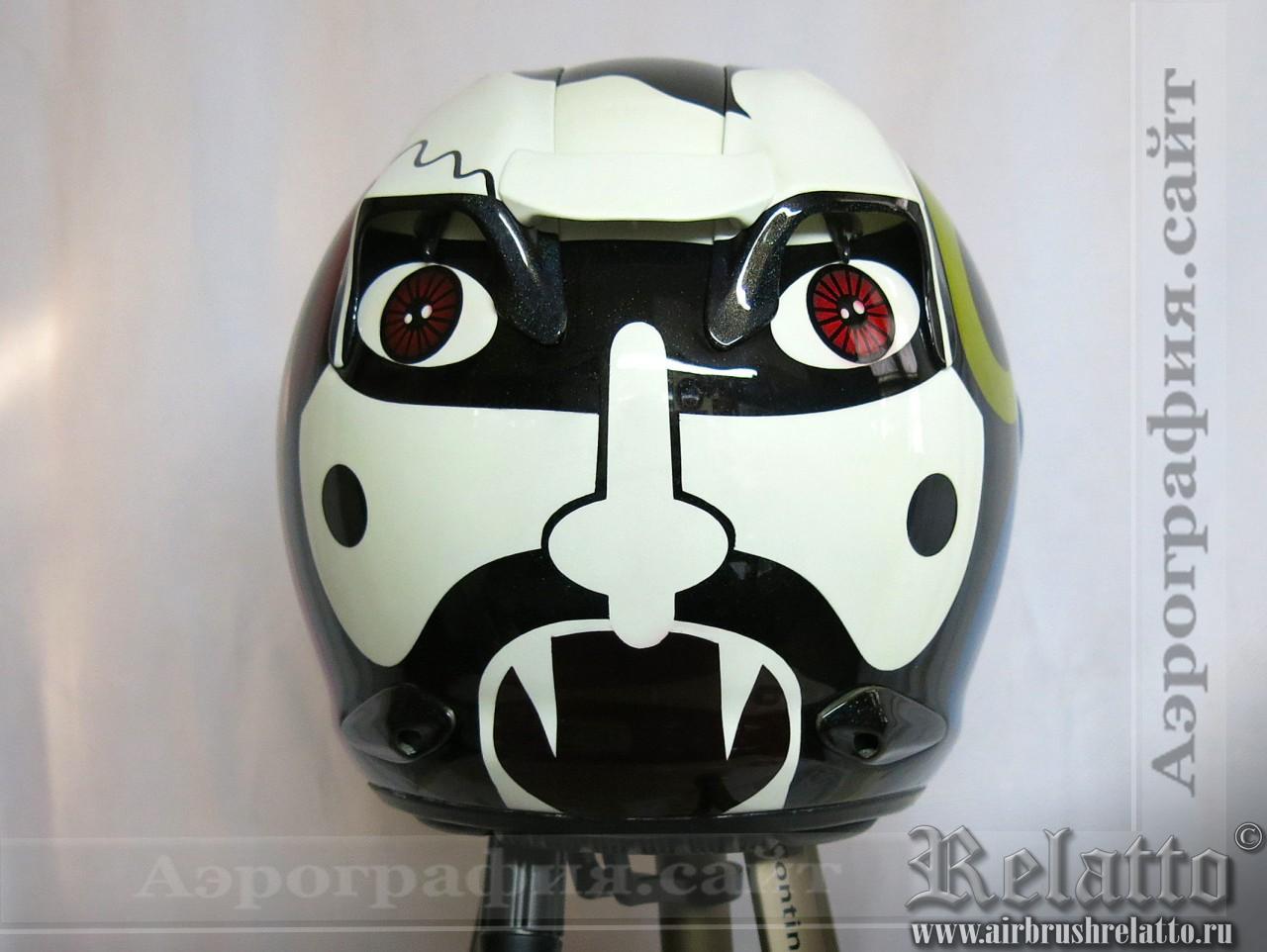 аэрография мото шлема