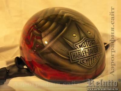 аэрография шлема Harley Davidson