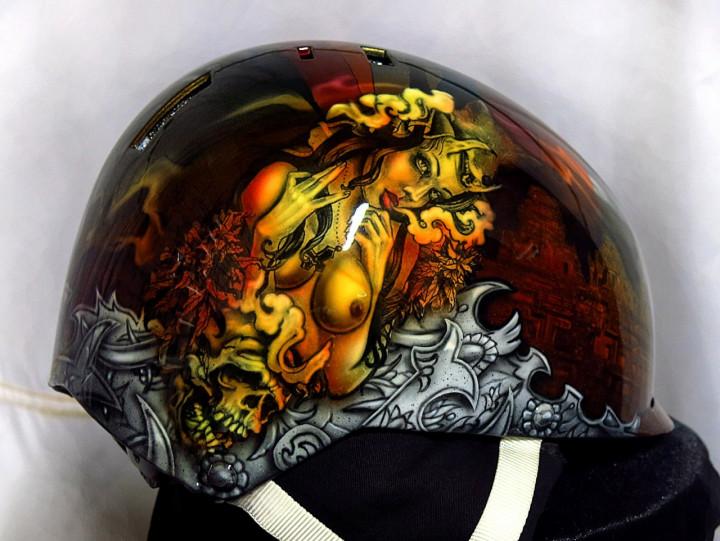 Аэрография шлема для сноуборда