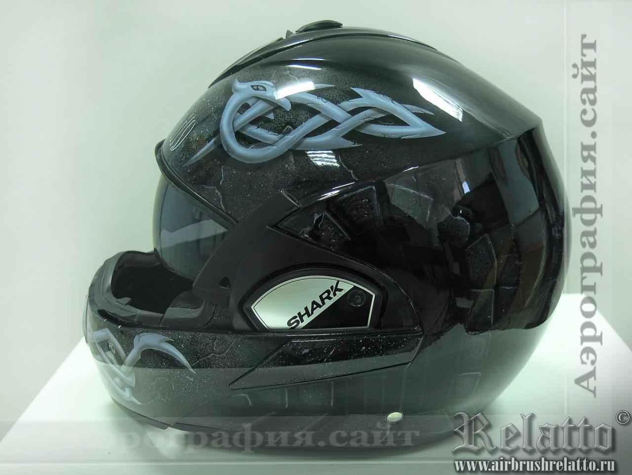 разрисовка на шлеме узоры