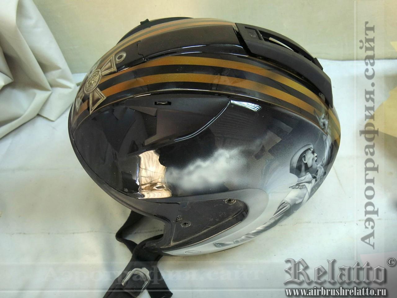 аэрография шлемов георгиевская лента