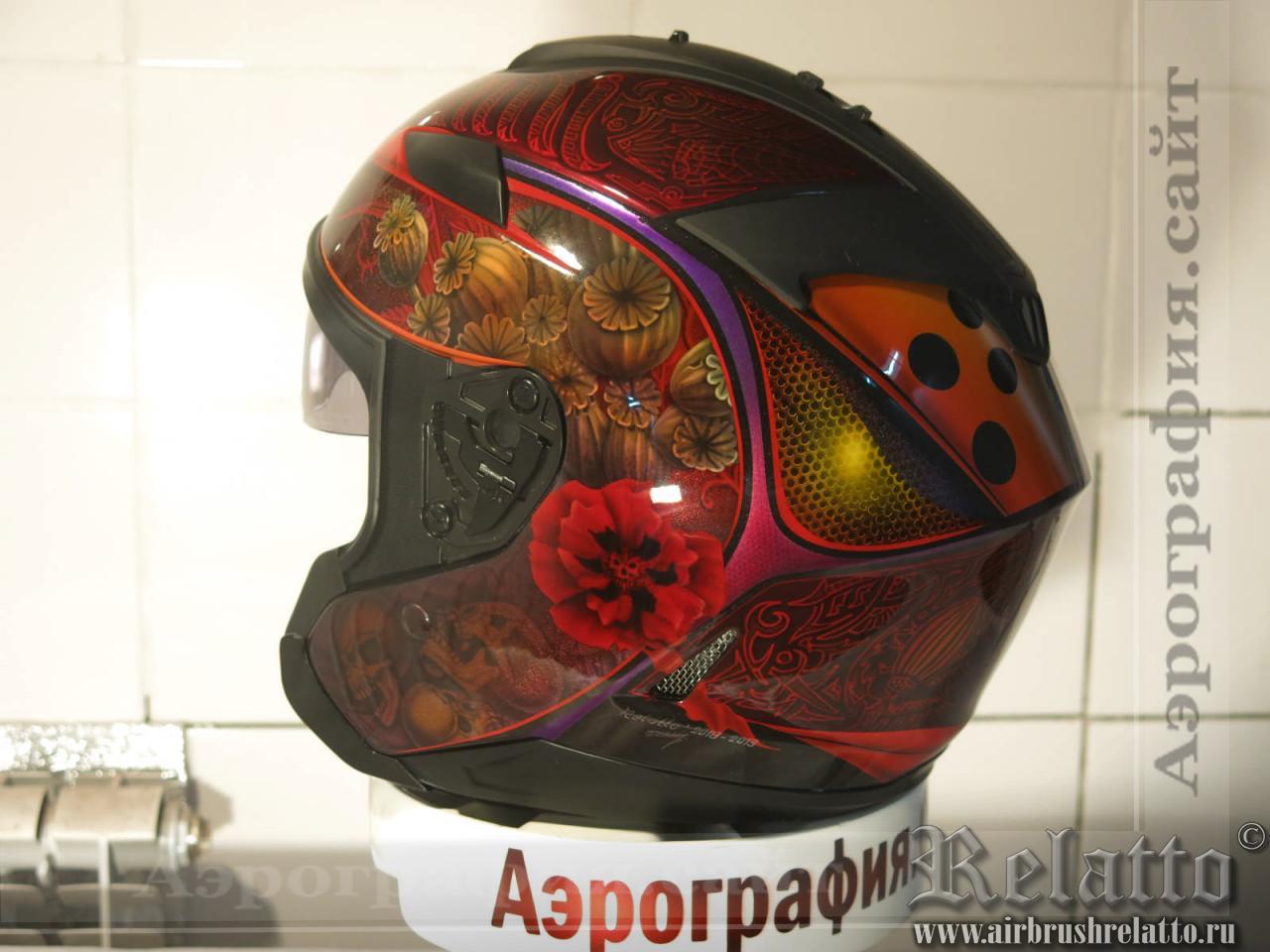 аэрография на шлеме HJC в Краснодаре
