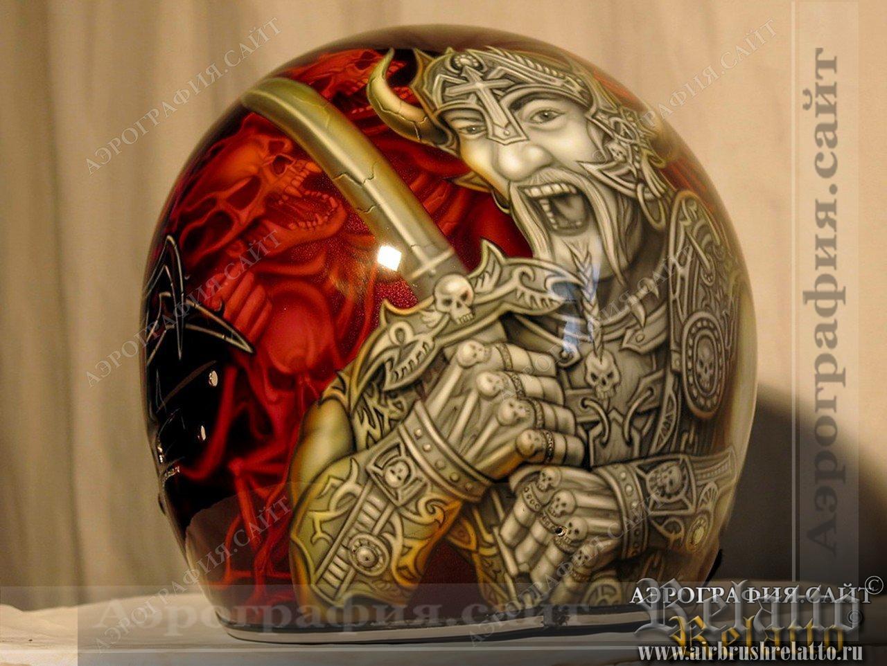 Высокий уровень сложности аэрографии на шлеме 25 000 руб.