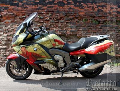 Аэрография мотоцикла BMW 1600 GT airbrush  Казаки Relatto