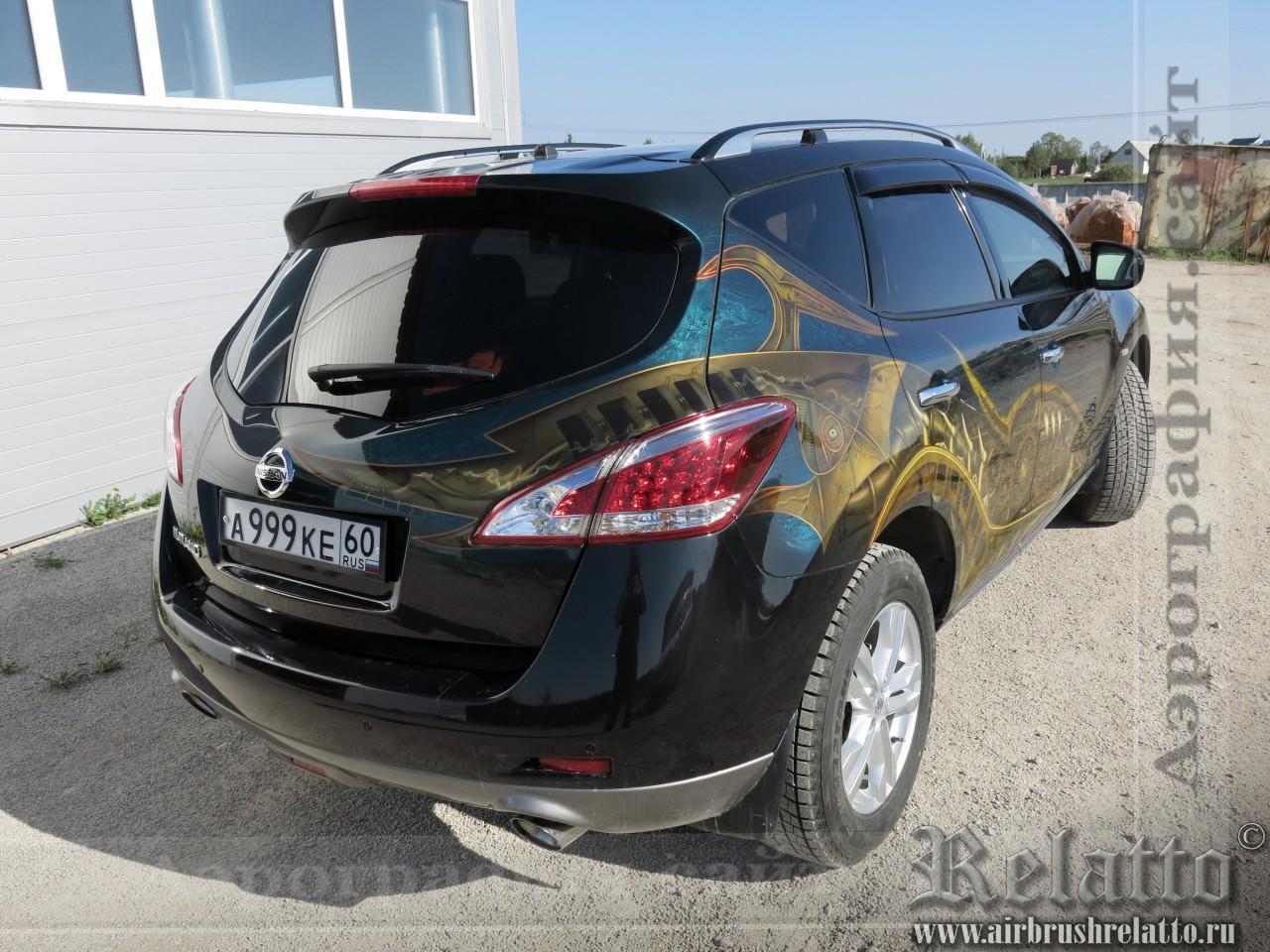 Роспись автомобиля Nissan Murano airbrush