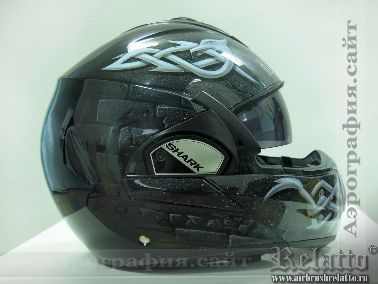 аэрография на шлем узоры
