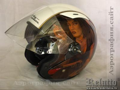 аэрография шлема Harley Davidson фото Москва