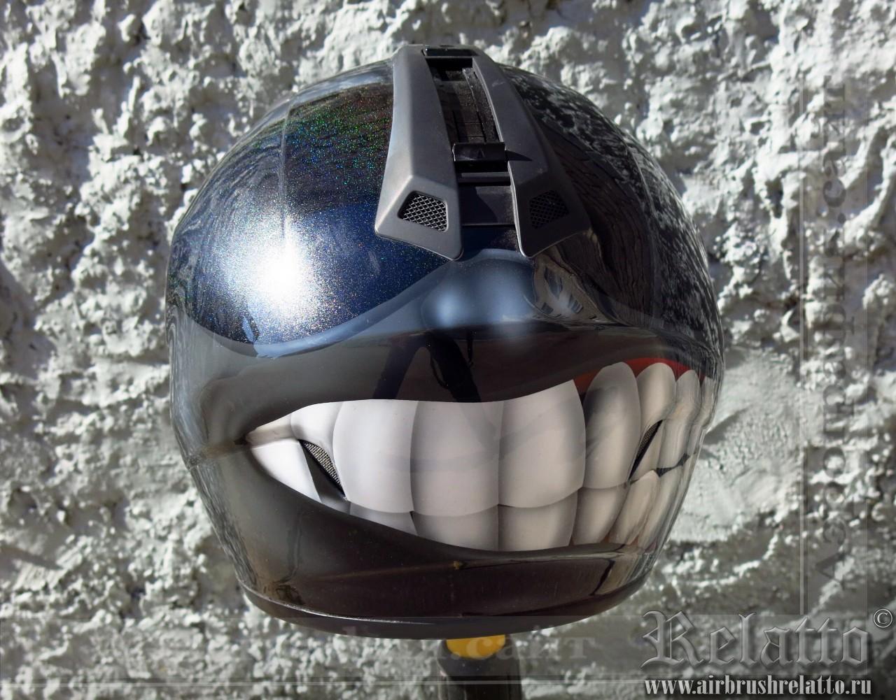 аэрография шлема - позитивный