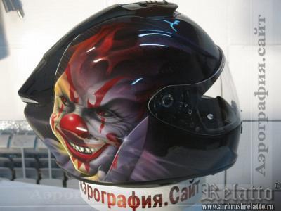 аэрография мотошлема Scorpio Краснодар