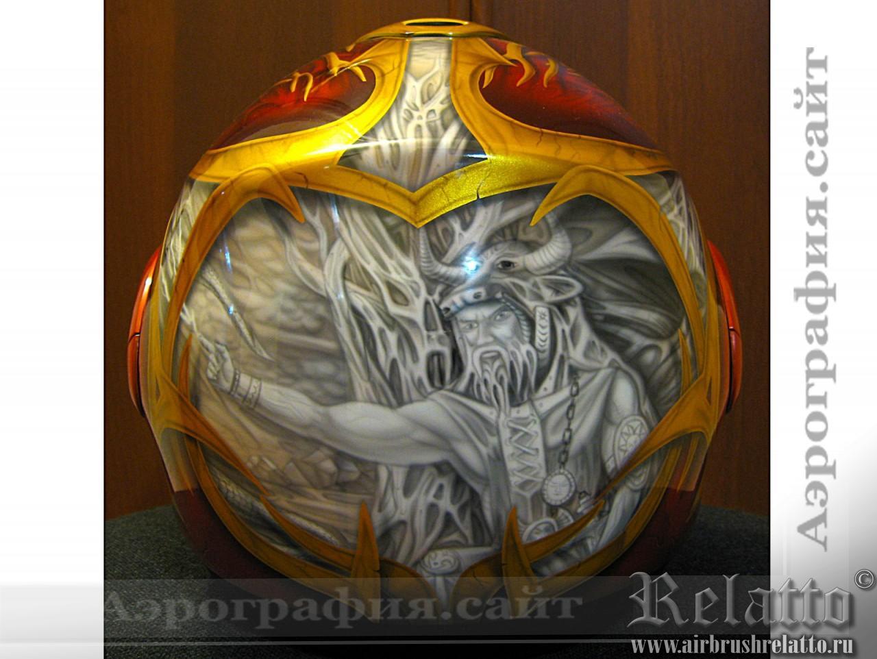 аэрография мото шлема Санкт-Петербург