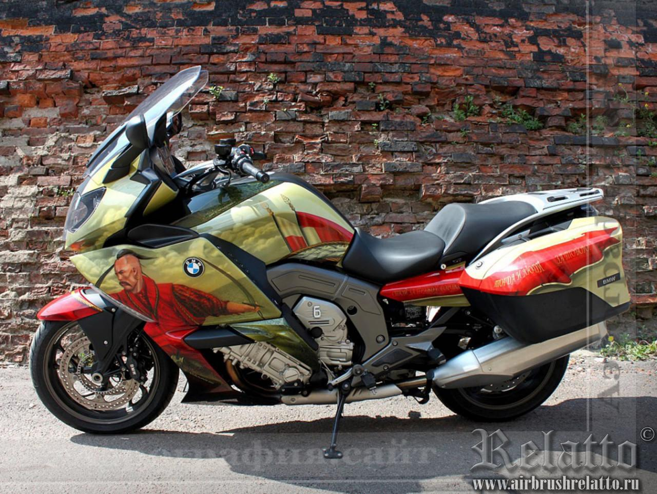 Аэрография мотоцикла BMW 1600 GT airbrush  Казаки