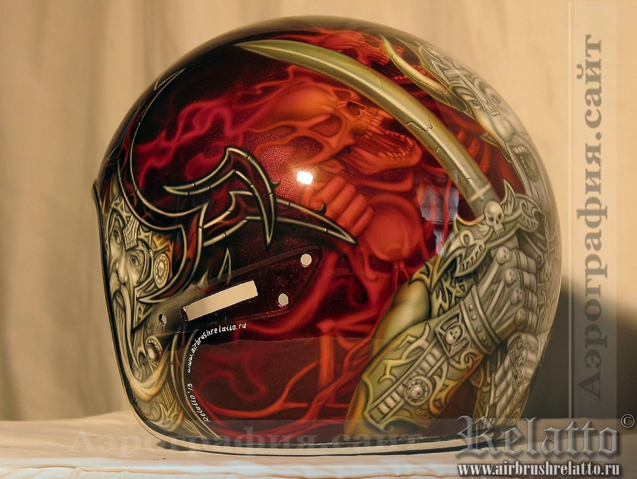 Аэрография на шлемах  Harley Davidson