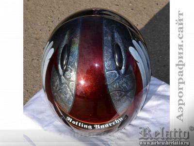 Рисунок на шлем Rolling Anarchy