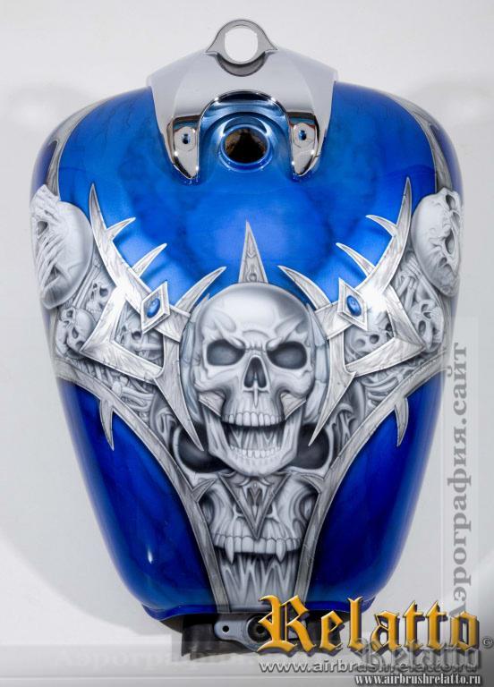 Бак Yamaha Roalstar черепа
