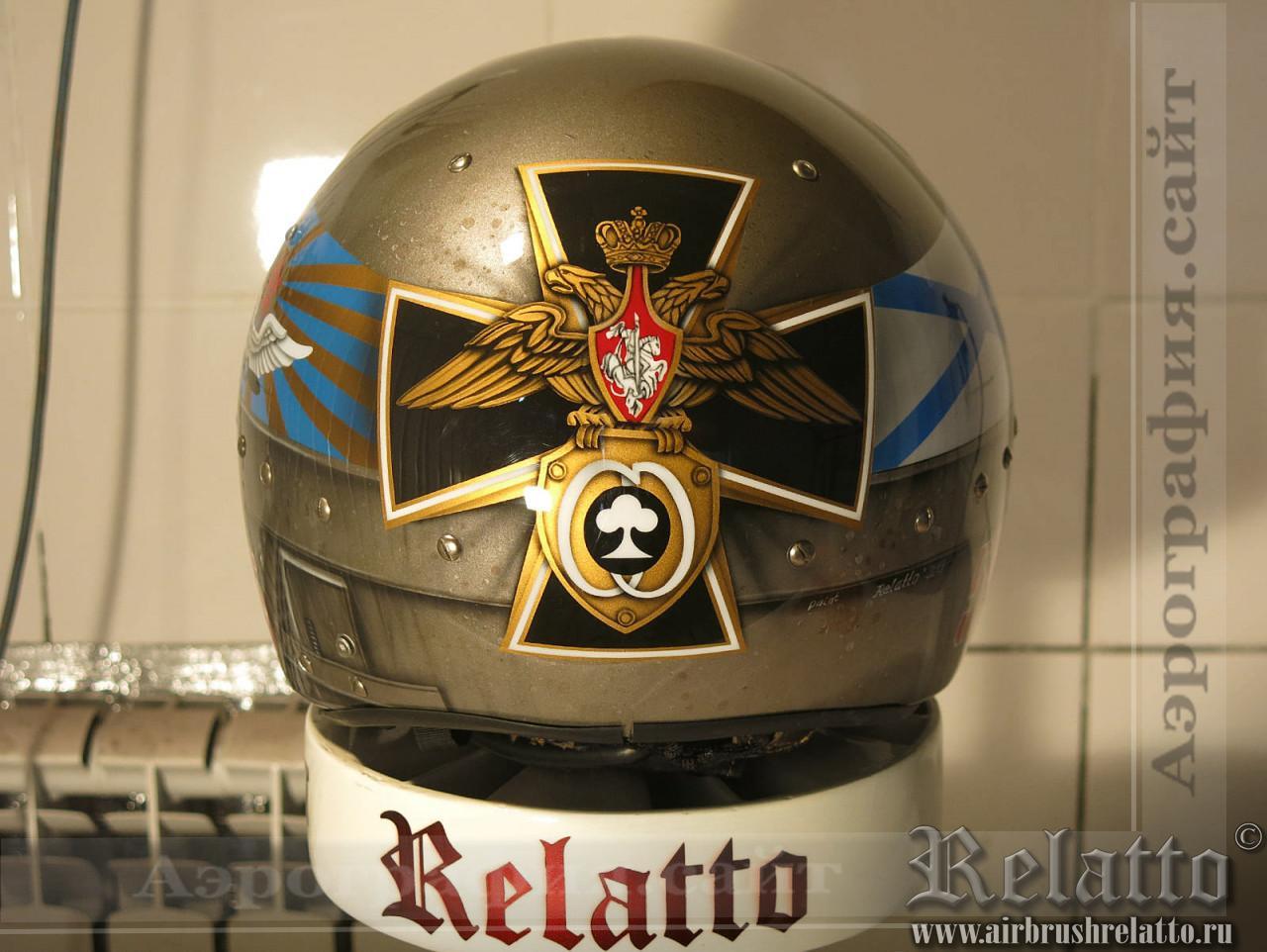 аэрография на шлеме в Краснодаре