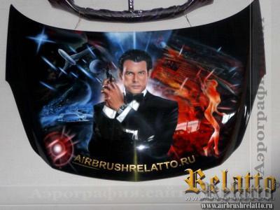 James Bond 007 аэрография капота Белгород