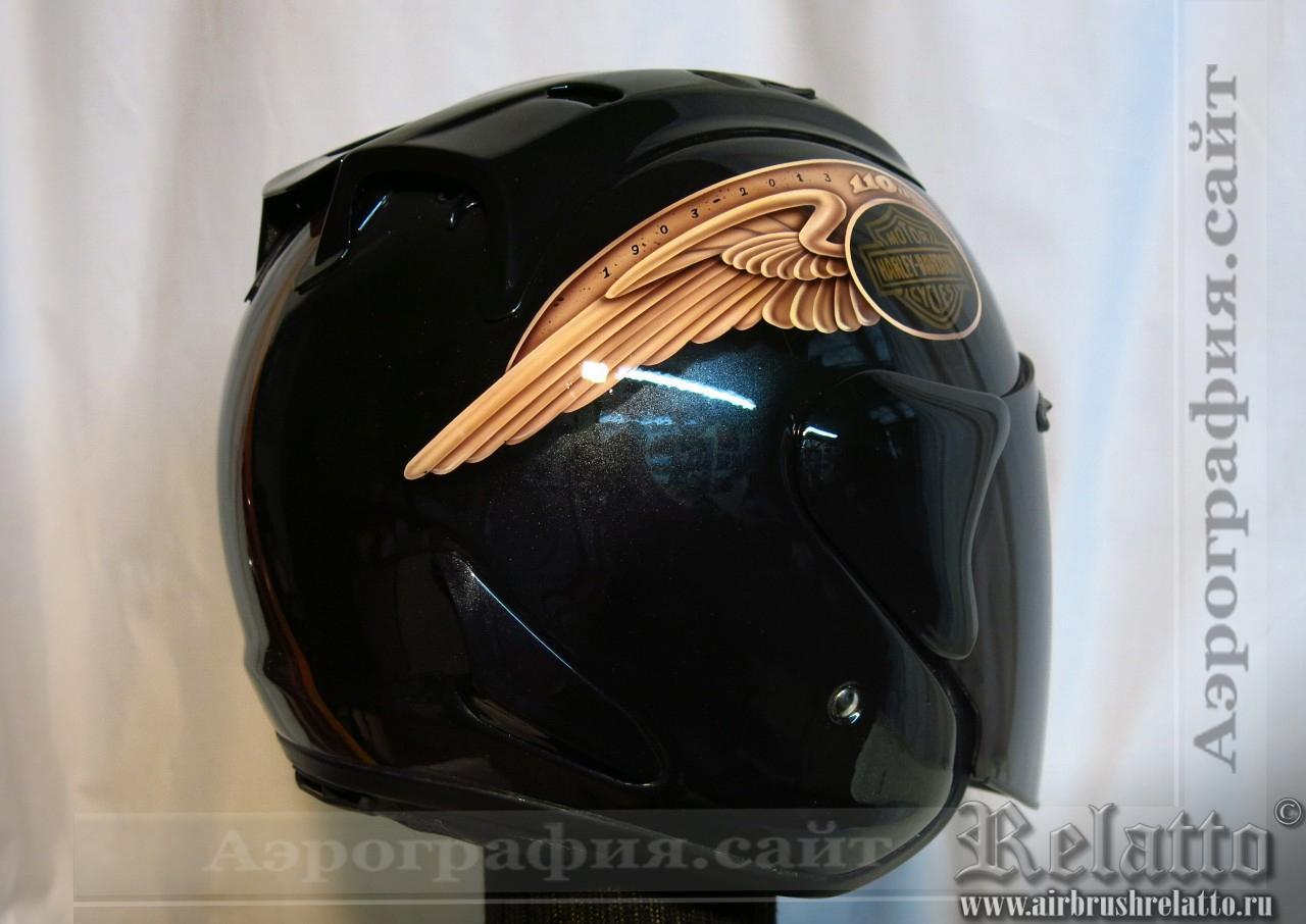 Аэрография на шлема Arai в Harley Davidson