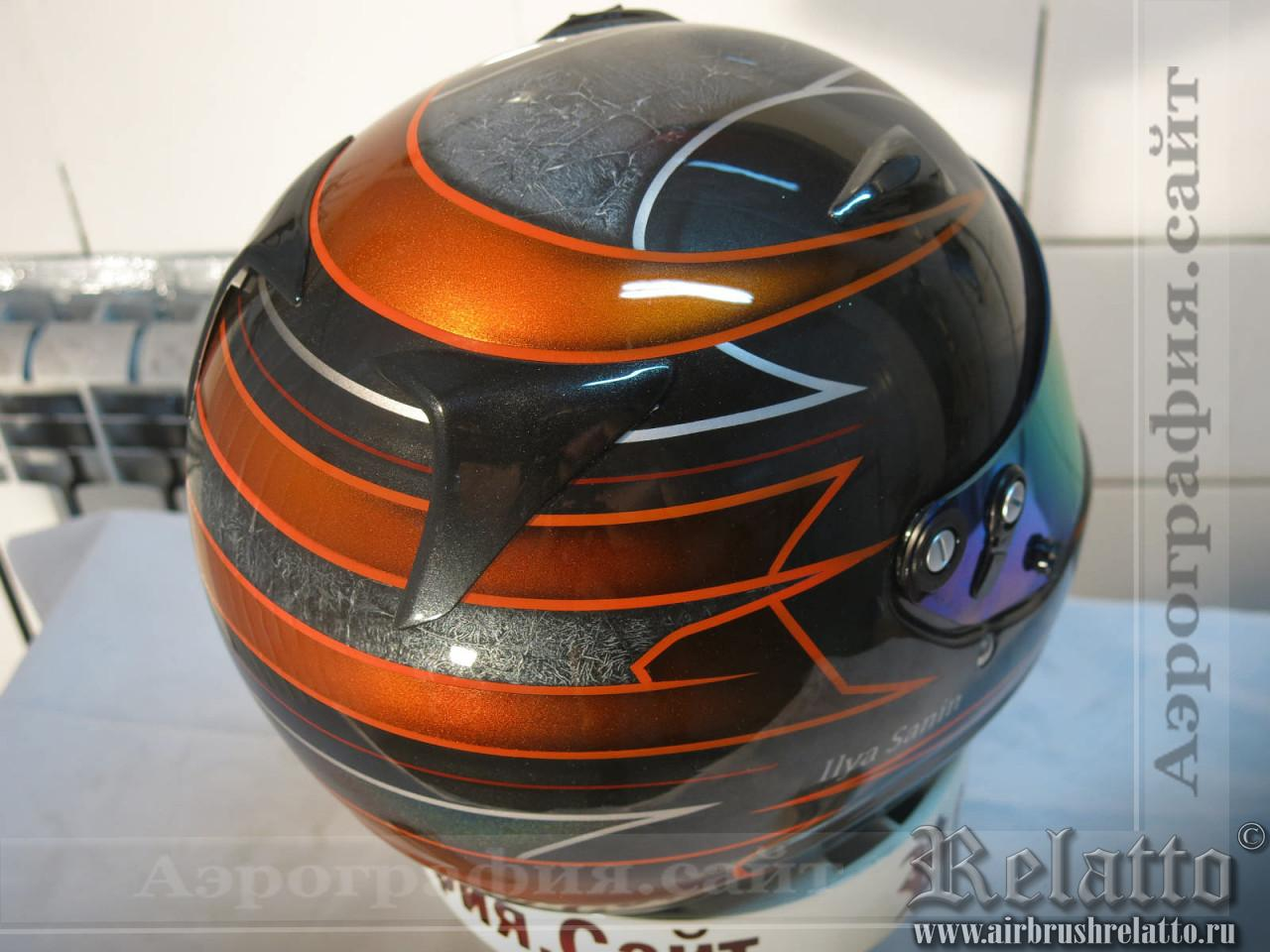 аэрография шлема для гонщиков в Белгороде