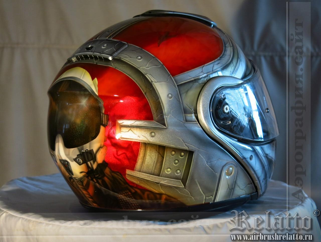 Аэрография шлема SHOEI