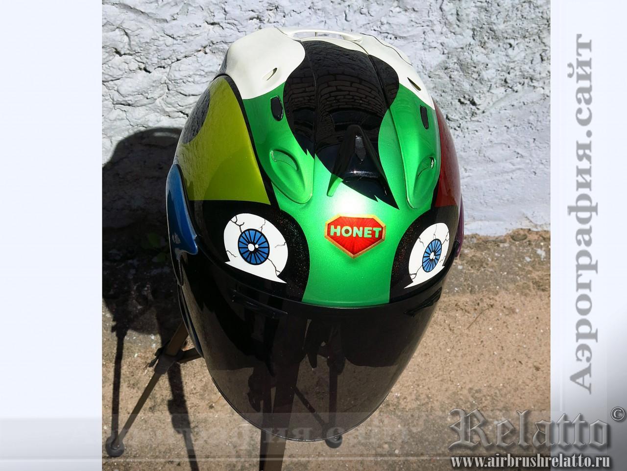 графический рисунок на шлеме
