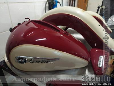 покраска мотоцикла Road Star Краснодар