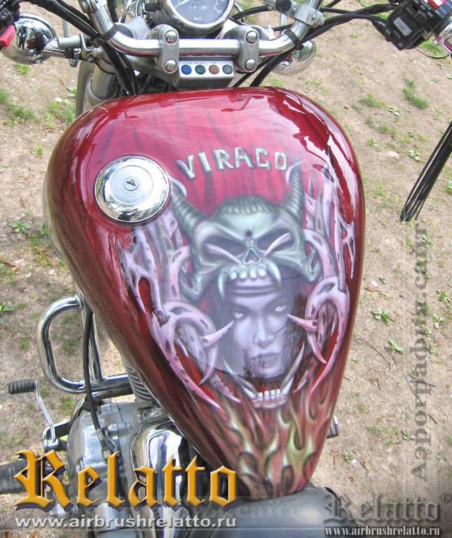 аэрография мотоцикла  ведьма