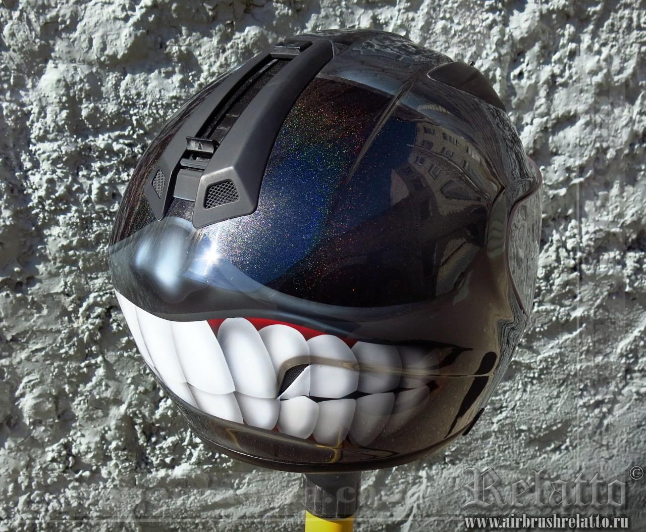 аэрография шлема - злорадостный