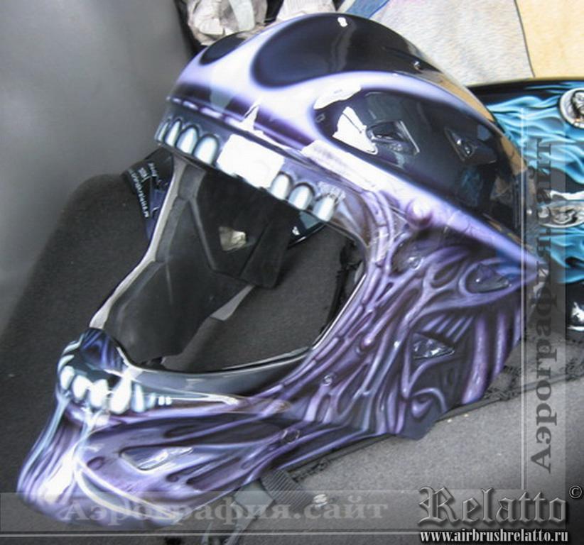 аэрография  на шлеме Alien