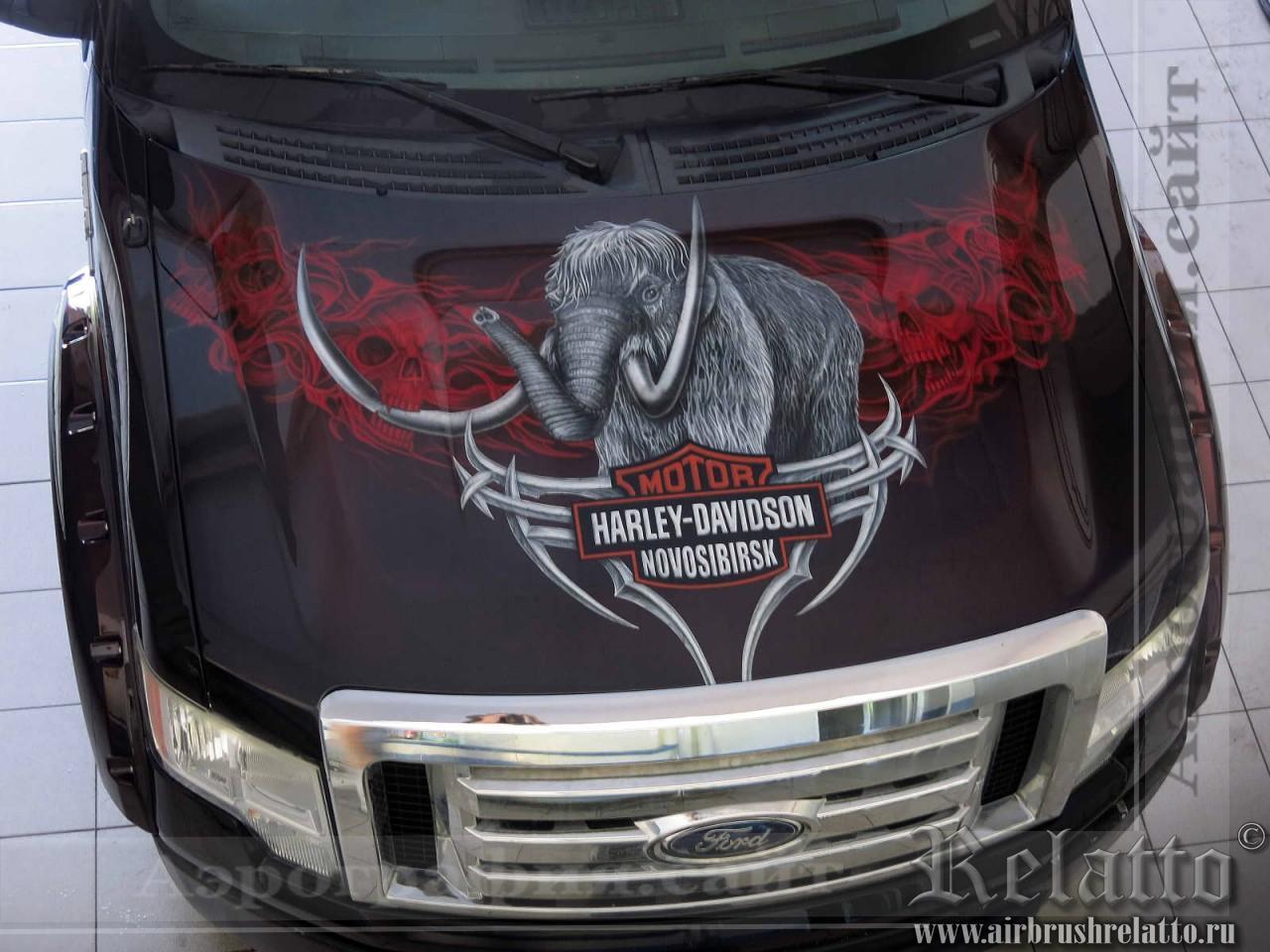роспись автомобилей harley davidson Новосибирск